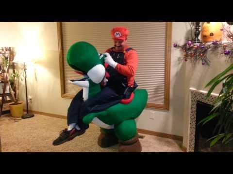 Mario riding Yoshi Halloween Costume