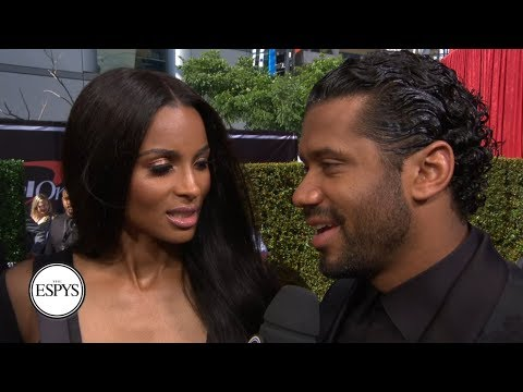 Video: Russell Wilson and Ciara talk Seahawks and more on the red carpet | 2019 ESPYS