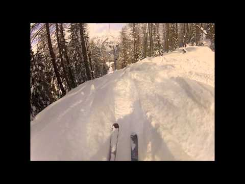 Hot Snow-Ski Freeride POV