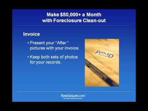 Make 50,000 A Month with Foreclosure Clean Out (видео)