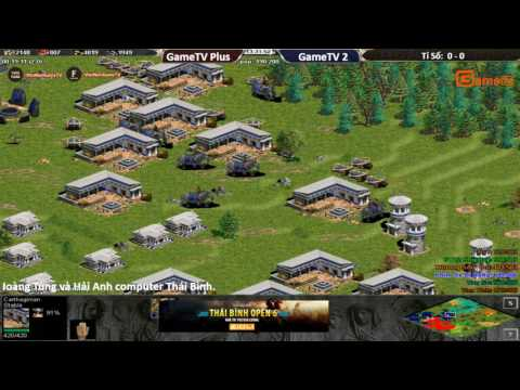 AOE Thái Bình Open 6 | 3vs3 DeathMatch GameTV Plus vs GameTV .BLV: G_Ver
