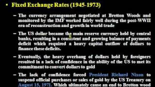 Los sistemas monetarios internacionales: 1ª parte
