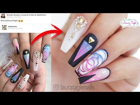 Videos de uñas - EXPECTATIVA VS REALIDAD EN UÑAS / #RecrealoLauraTagle