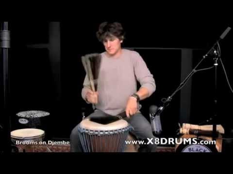 How to Play Djembe with Brooms - Online Lesson Preview