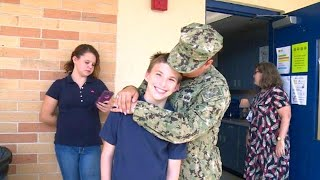 Boy Jumps Into Arms of Navy Mom Who Has Been Deployed for 10 Months