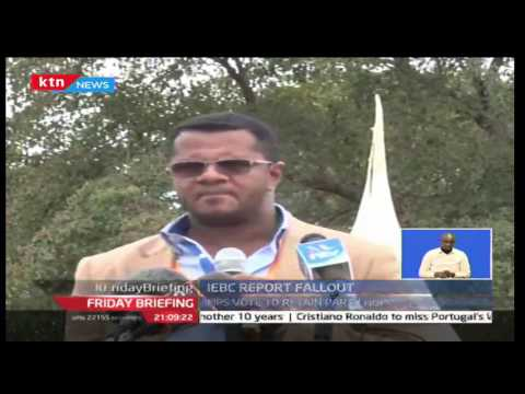 CORD MP's term Jubilee's standoff on the IEBC Report as a scheme