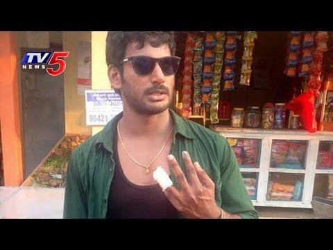 Vishal Injured while  Ambala   Shooting Spot  TV5 News