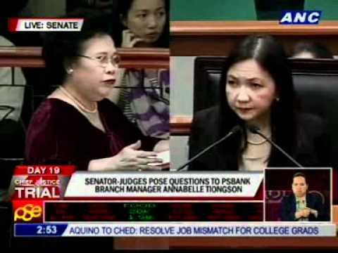 Tiongson answers clarificatory questions from Osmeña, Santiago