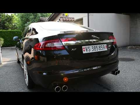 jaguar xf-r sound with spires exhaust