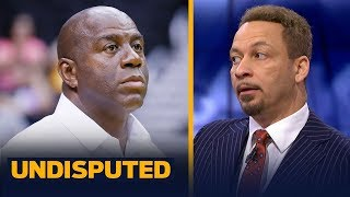 Magic Johnson 'was wrong' in how he resigned from Lakers, says Chris Broussard | NBA | UNDISPUTED