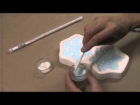 Making Snowflakes with Colour de Verre Molds