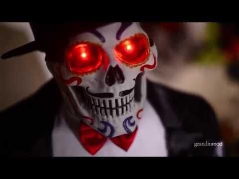 Animated Dia de los Muertos Man   Grandin Road