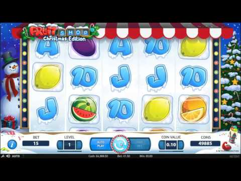 Fruit Shop Christmas Edition slot by NetEnt - Gameplay