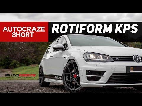 VOLKSWAGEN GOLF R WHEELS // Rotiform KPS Rims & Tyres //    AutoCraze 2017