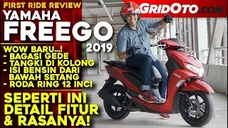 Video Yamaha FREEGO S-ABS 2019 l First Ride Review l GridOto MP3, 3GP, MP4, WEBM, AVI, FLV Desember 2018