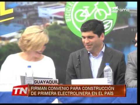 Firman convenio para construcción de primera electrolinera en el país