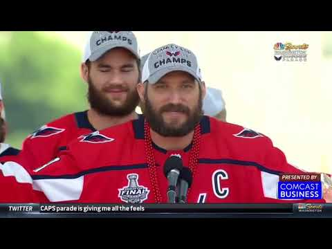 Fans celebrate Capitals at parade