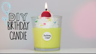 DIY BDAY Cake Candle - YouTube