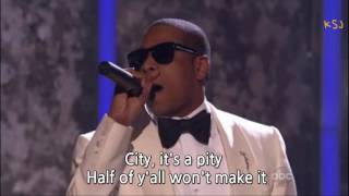 Alicia Keys & Jay Z - Empire state of mind *LIVE* with lyrics [2009]