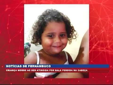 [BRASIL URGENTE PE] Criança morre ao ser atingida por bala perdida