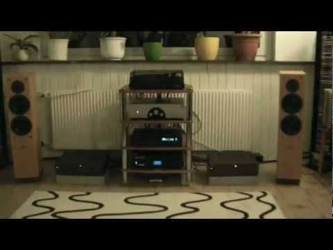 vintage Hifi - vintage audio setup with warm and high detailed tube-sound by Rogue Audio pre-amp 99 and 2 x NAD2200PE.