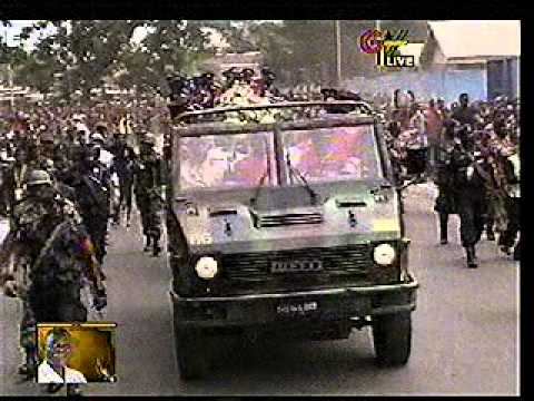 Burial Of President John Evans Atta Mills: Cortege Passes Through Some Principal Streets Of Accra