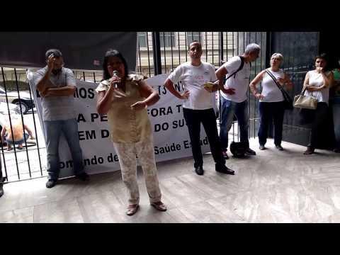 Fala da Presidente do SASERJ na Assembleia dos Profissionais de Saúde do Estado do Rio de Janeiro 06.03.17
