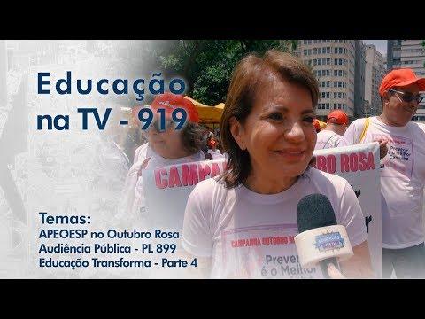 PL899 | APEOESP no Outubro Rosa | Educação Transforma - Parte 4