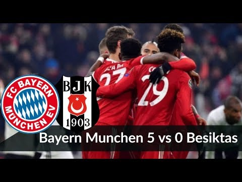 Bayern Munich vs Besiktas 5-0 || UEFA Champions League All Goals & Highlights ● 20/02/2018 HD