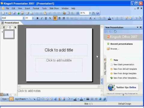 Video 1 de Kingsoft Office Suite: Vistazo rápido a Kingsoft Office