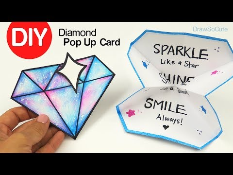 How To Make A Diamond Pop Up Card DIY Paper Craft