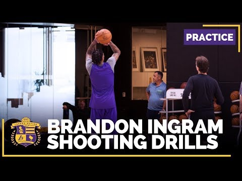 Video: NBA Rising Star Brandon Ingram Getting Shots Up AFTER Practice