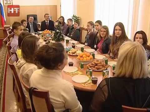 Делегация школьников Новгородской области отправилась в Москву
