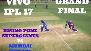 GRAND FINAL : RISING PUNE SUPERGIANTS VS MUMBAI INDIANSWho will emerge as winner in this IPL 17 FINAL CLASH ? Watch this Video !!Comment below who is your favourite IPL team.Thanking you all for the Wonderful support for this Series !!Leave a like if you Enjoyed this video.LIKE AND SUPPORT GUYS