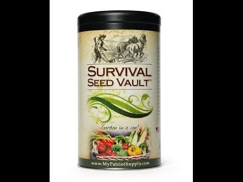 Heirloom Survival Seed Vault/Bank 4 Patriots Review