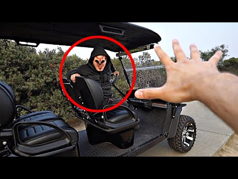 We CAUGHT Knock Knock in our Golf Cart! *CHASED*
