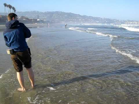 Dave Catches a Corbina in Southern California