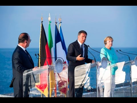 Preview video La relazione di Renzi, Hollande, e Merkel a Ventotene