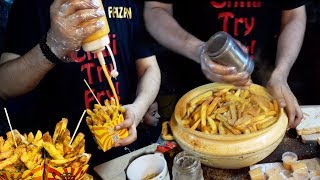 Famous French Fries   Mc Donald and OPTP Style Chips   Aloo Ships at Street Food of Karachi Pakistan