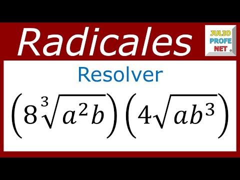 raíces con diferentes índices - Suscríbete a Julioprofe aquí: http://bit.ly/R44EYJ Julio Rios explica cómo multiplicar radicales de diferente índice. Blog: http://www.julioprofe.net Página ...