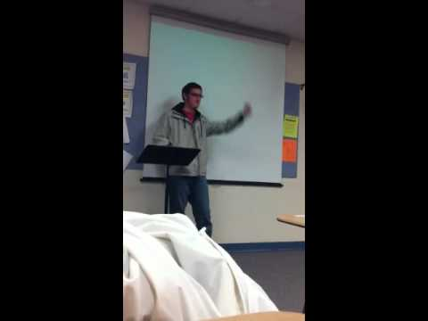 Nothing like a funny impromptu speech in the morning