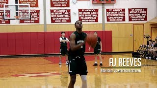 AJ Reeves Goes Off for 33 vs. Worcester Academy