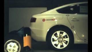 Crash test trasero Audi A5 en Cesvimap