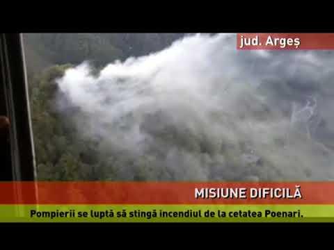 Incendiul de lângă Cetatea Poenari, de nestăpânit