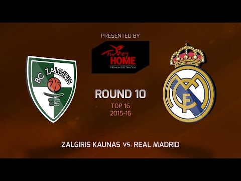 Highlights: Top 16, Round 10, Zalgiris Kaunas 75-90 Real Madrid