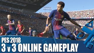Rob, Nath and Dave team up in the PES 2018 Online Beta and face off in a thrilling 3v3 match. Will they emerge victorious? Check out this brand new PS4 ...