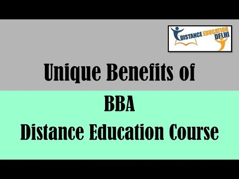 Benefits of BBA distance education