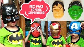 Video Rex Pakai Topeng Superhero 😂 Keren dan Lucu | Super Hero Mask MP3, 3GP, MP4, WEBM, AVI, FLV Agustus 2018