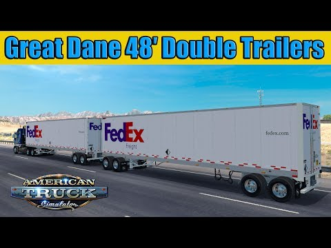 Great Dane 48 Double trailer v1