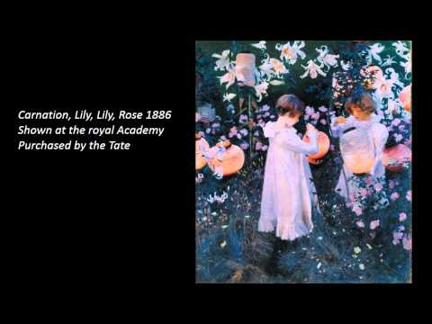 John Singer Sargent 3/4 Art Lecture by dr. christian conrad